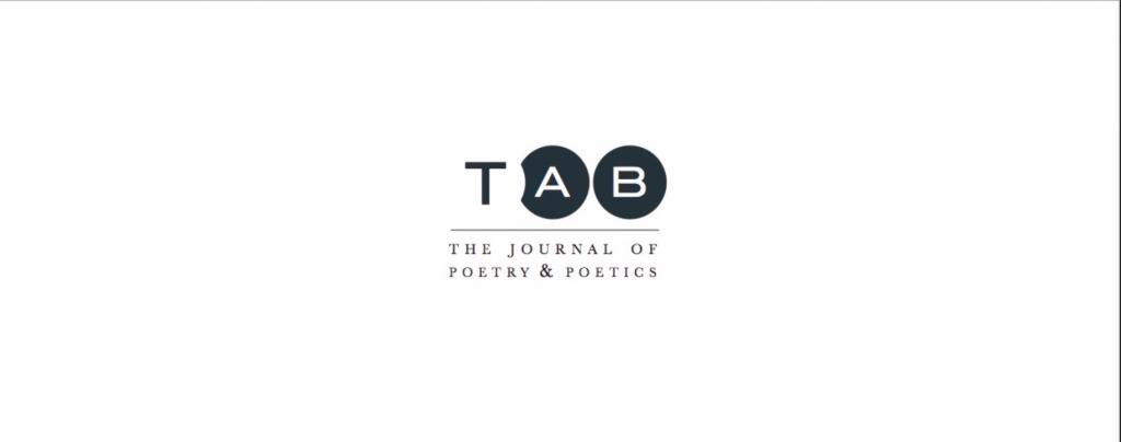TAB: The Journal of Poetry & Poetics logo