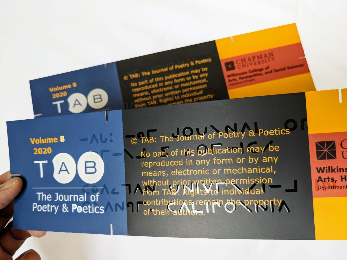 TAB volume 8 issue 1 cover card