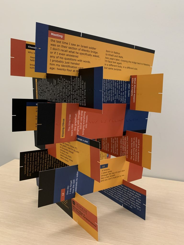 Stacked tower from printed panels in the Vol. 8, 2020 print issue