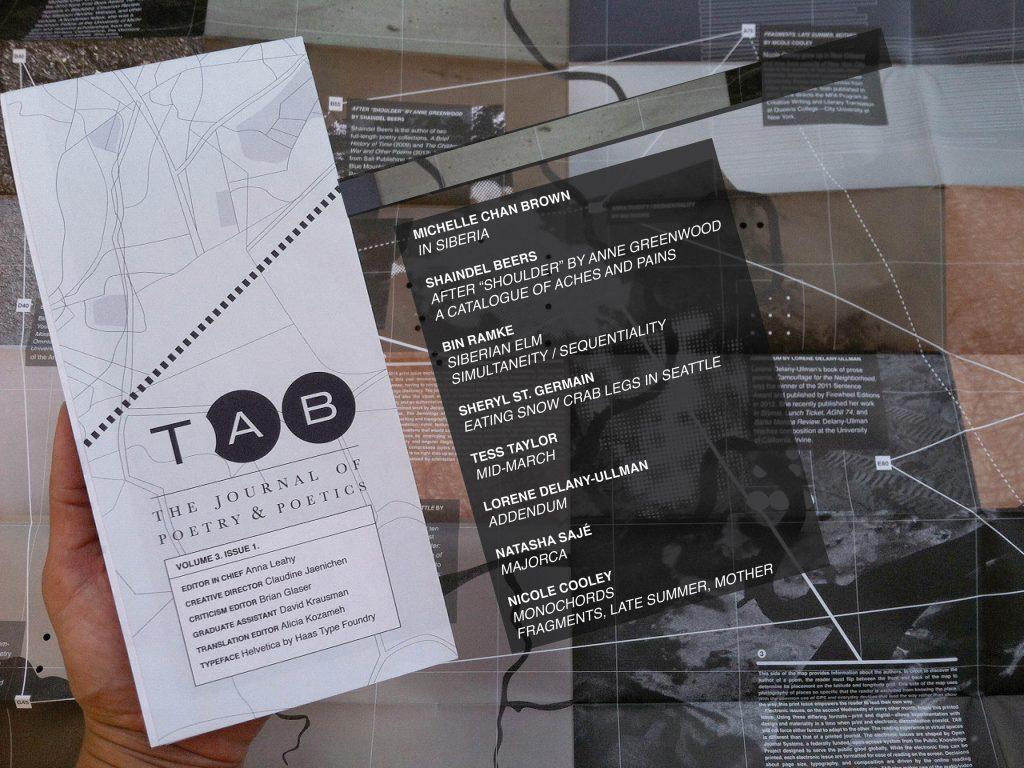Table of contents: Michelle Chan Brown Shaindel Beers Bin Ramke Sheryl St. Germain Tess Taylor Lorene Delany-Ullman Natasha Sajé Nicole Cooley